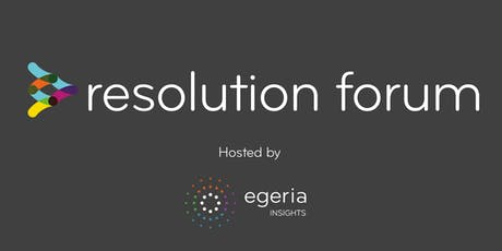 Resolution Forum September 2019 tickets