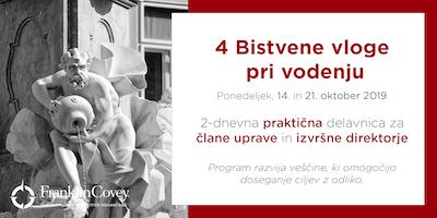 4 BISTVENE vloge - Ljubljana - Oktober