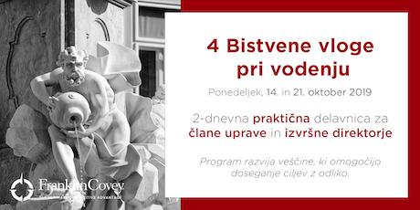 4 BISTVENE vloge - Ljubljana - November tickets