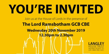 House of Lords - Annual Review Launch 2019 tickets
