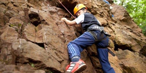 Climbing from YHA Castleton - National GetOutside day