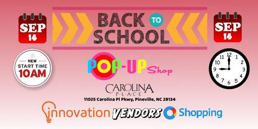 2019 Back 2 School Pop-Up Shop