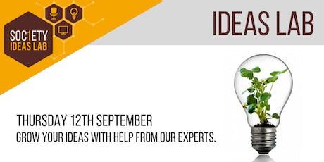 Society1 Ideas Lab - September tickets