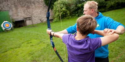Archery and climbing tower at YHA Okehampton - National Get Outside Day