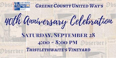 Greene County United Way's 40th Anniversary Celebration tickets