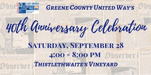 Greene County United Way's 40th Anniversary Celebration