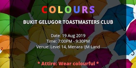 Bukit Gelugor Toastmasters Club (19 Aug 2019 - Monday) tickets