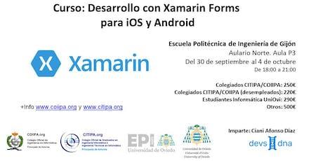 Curso: Desarrollo móvil con Xamarin Forms para iOS y Android entradas