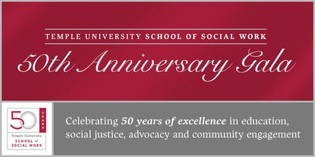 Temple University School of Social Work 50th Anniversary tickets