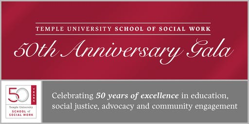 Temple University School of Social Work 50th Anniversary