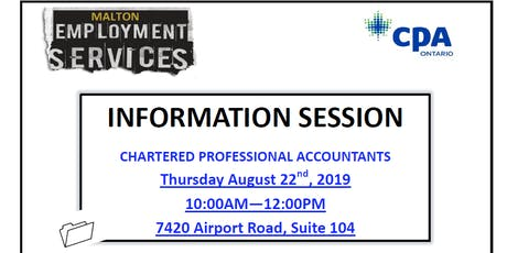 Information Session: Path to becoming a Chartered Professional Accountant tickets