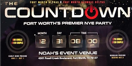 COUNTDOWN 2020: Fort Worth's Premier New Years Eve Party tickets