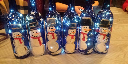DEC 10 - Not Your Average Paint and Sip Snowman Wine Bottle