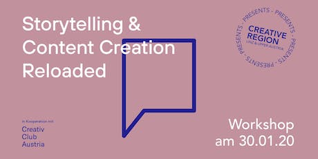 WORKSHOP: STORYTELLING & CONTENT CREATION RELOADED Tickets