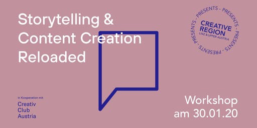 WORKSHOP: STORYTELLING & CONTENT CREATION RELOADED