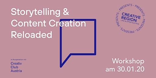 WORKSHOP: STORYTELLING & CONTENT CREATION RELOADED