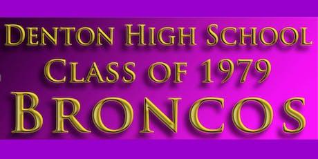 Denton High School Class of 1979 Reunion tickets
