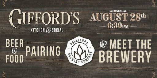 Gifford's & Pollyanna Beer & Food Pairing Meet the Brewery