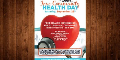 1st Annual Invo Community Health Day tickets