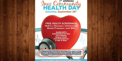 1st Annual Invo Community Health Day