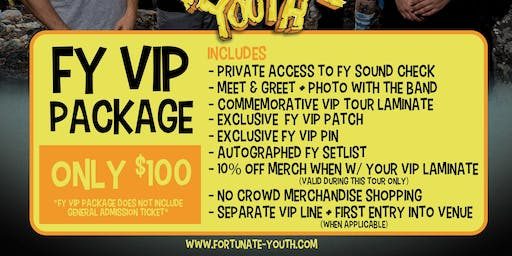 FY VIP PACKAGE 2019 - Fairfield, CT - 9/8/19