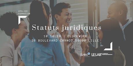 Atelier Formation #Lille | Statuts juridiques | Links Consultants  billets