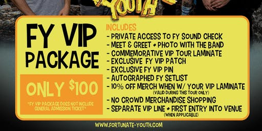 FY VIP PACKAGE 2019 - Westerly, RI - 9/13/19