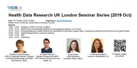 HDR UK London Seminar Series (Oct 2019) tickets