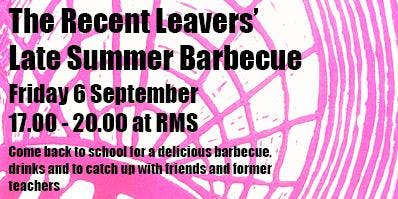 The Recent Leavers' Barbecue
