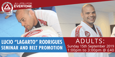 "Lucio ""Lagarto"" Rodrigues Adults Seminar and Belt Promotion"