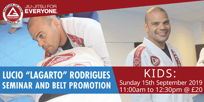 "Lucio ""Lagarto"" Rodrigues Kids Seminar and Belt Promotion"