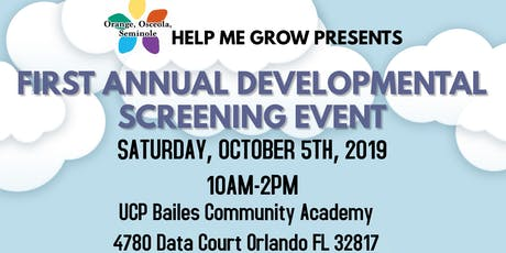 First Annual Developmental Screening Event tickets