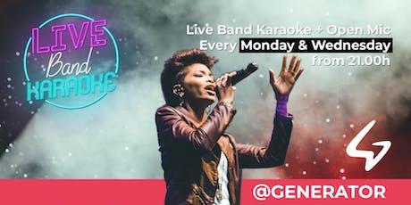 Live Band Karaoke + Open Mic @Generator Hostel tickets