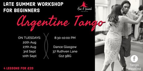 Tango Workshop for Beginners: 4 LESSONS PACK tickets