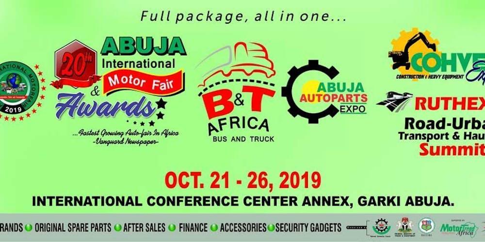 Abuja Motor Fair Tickets, Mon, Oct 21, 2019 at 9:00 AM