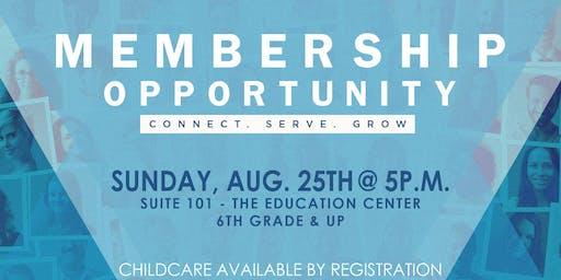 Membership Opportunity