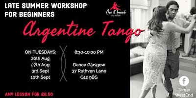 Tango Workshop for Beginners: Tuesday lessons