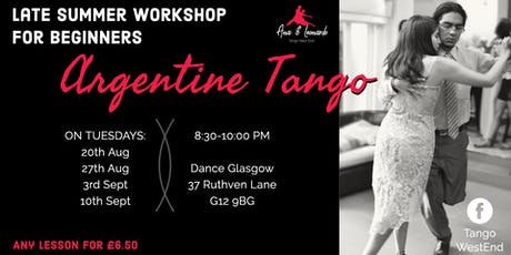 Tango Workshop for Beginners: Tuesday lessons tickets