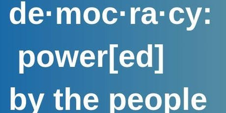 de·moc·ra·cy: power[ed] by the people. #ReclaimTheBallot & #WeCount Census tickets