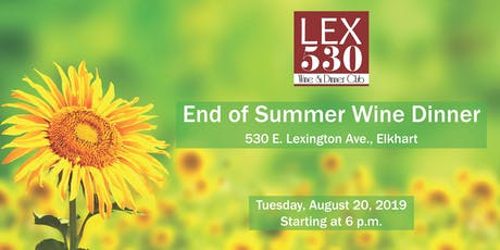 LEX 530 End of Summer Wine Dinner tickets