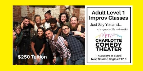 Adult Level 1 Improv Comedy Classes : 6 Week Sessions tickets