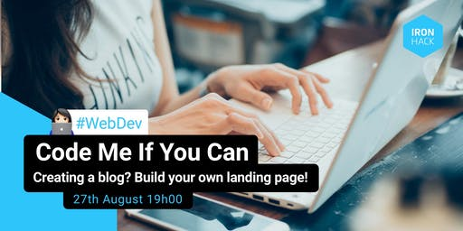 CODE ME IF YOU CAN | Create your landing page for your blog!