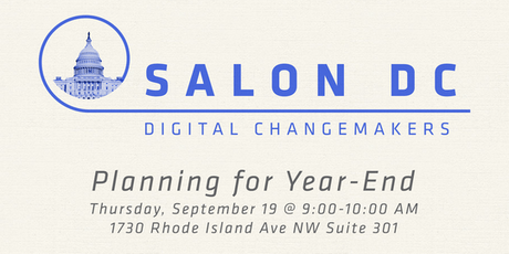 Salon DC September 19: Planning for Year End tickets
