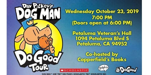 DAV PILKEY IN PETALUMA Doors open 6 pm!