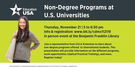 Non-Degree Programs at U.S. Universities tickets
