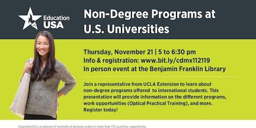 Non-Degree Programs at U.S. Universities