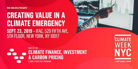 Creating Value in a Climate Emergency tickets