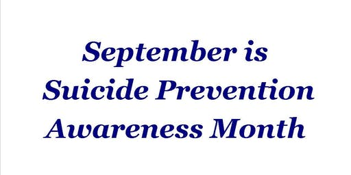 In Recognition of September as Suicide Prevention Awareness Month