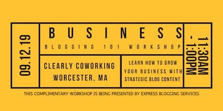 Business Blogging 101 Workshop tickets