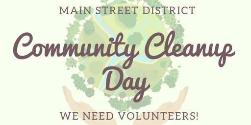 Main Street District Community Cleanup